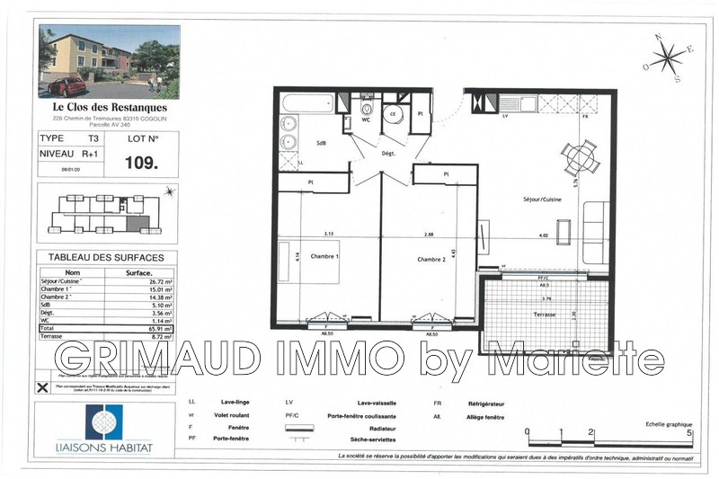 Photo n°2 - Vente appartement Cogolin 83310 - 364 990 €