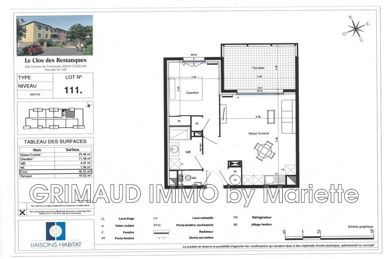 Photo n°2 - Vente appartement Cogolin 83310 - 229 440 €