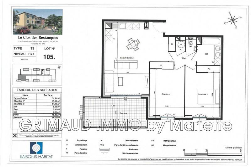 Photo n°2 - Vente appartement Cogolin 83310 - 378 000 €
