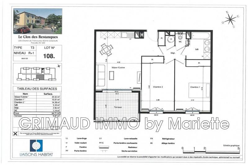 Photo n°2 - Vente appartement Cogolin 83310 - 335 840 €