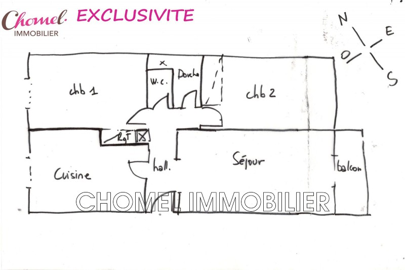 Apartment Caluire-et-Cuire Caluire et cuire,   to buy apartment  4 rooms   53 m²