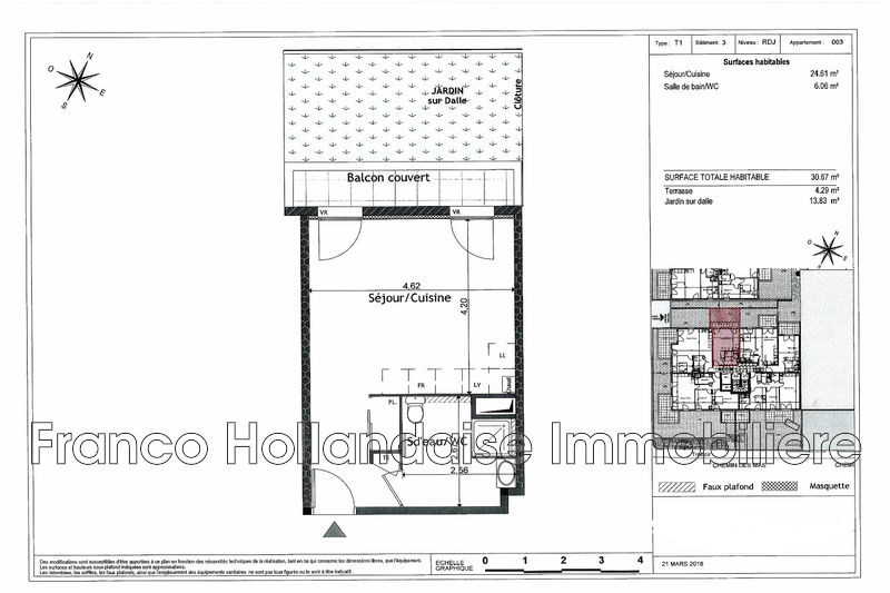 Photo n°2 - Vente appartement Grasse 06130 - 140 000 €