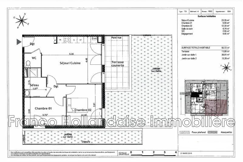 Photo n°2 - Vente appartement Grasse 06130 - 245 000 €