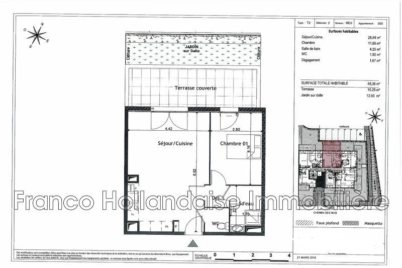 Photo n°2 - Vente appartement Grasse 06130 - 211 000 €