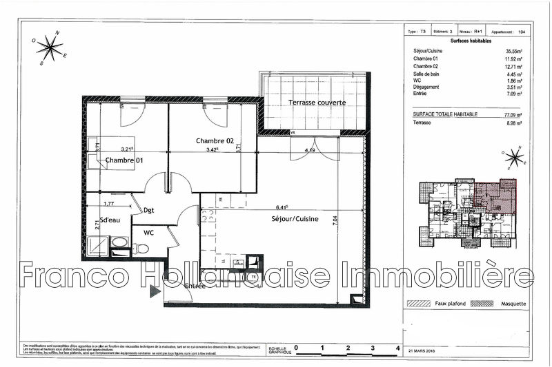 Photo n°2 - Vente appartement Grasse 06130 - 310 000 €