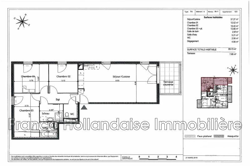 Photo n°2 - Vente appartement Grasse 06130 - 344 000 €