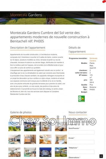 Photo Appartement Cumbre del Sol   achat appartement  3 pièces   179m²