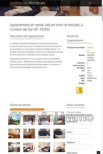 Apartment Cumbre del Sol   to buy apartment  3 rooms   92m²