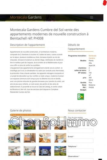 Photo Appartement Cumbre del Sol   achat appartement  3 pièces   145m²