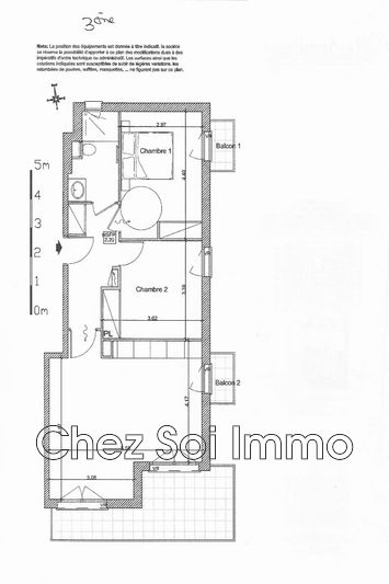 Appartement Cagnes-sur-Mer Lautin,   achat appartement  3 pièces   63m²