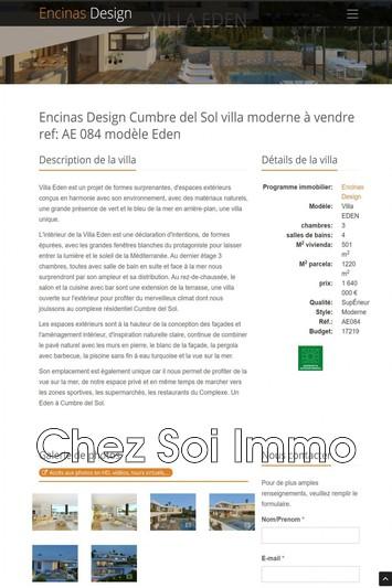 Photo Villa Cumbre del Sol   to buy villa  2 bedrooms   501m²