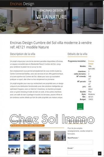 Villa Cumbre del Sol   achat villa  2 chambres   348m²