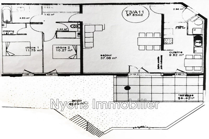 Photo n°8 - Vente appartement Nyons 26110 - 242 000 €
