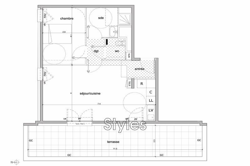 Photo n°3 - Vente appartement Montpellier 34000 - 265 000 €
