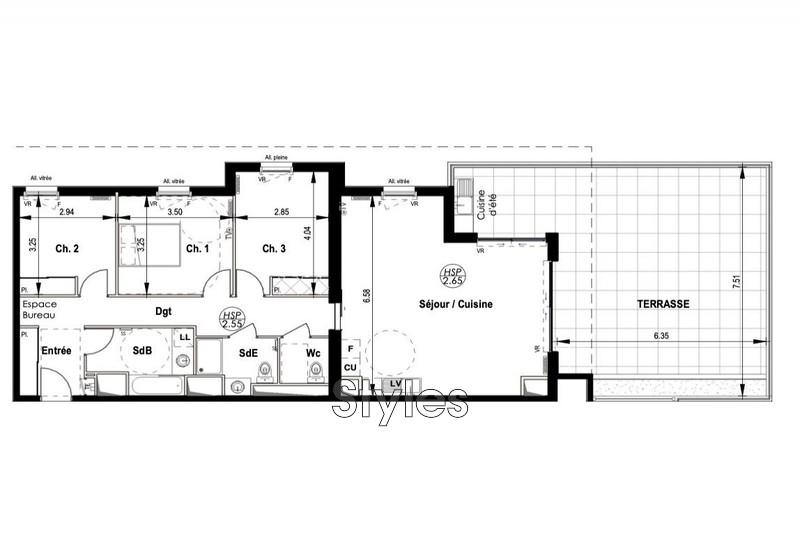 Photo n°2 - Vente appartement Montpellier 34000 - 522 000 €