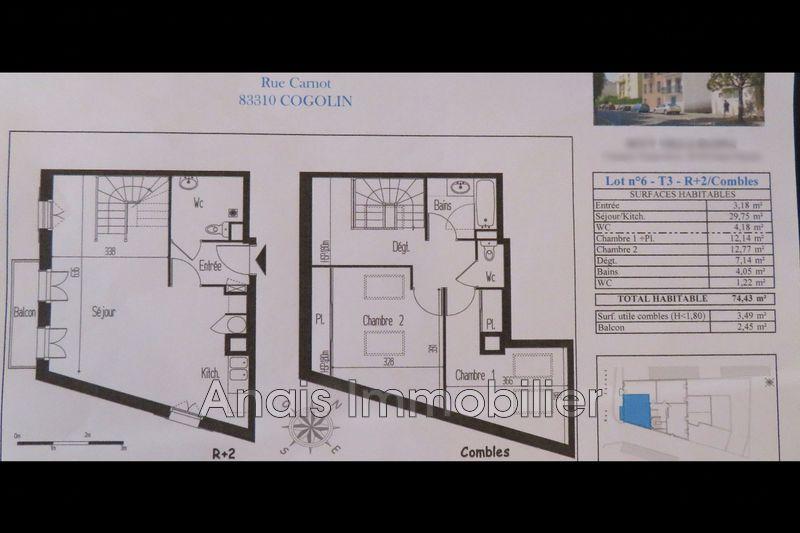 Photo Duplex Cogolin Centre-ville,   achat duplex  3 pièces   72m²