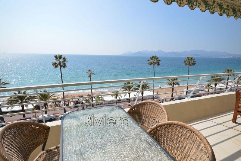 Appartement Cannes Bord de mer,  Location saisonnière appartement  4 pièces   95m²