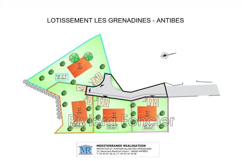 Land Antibes Eucalyptus,   to buy land   500 m²