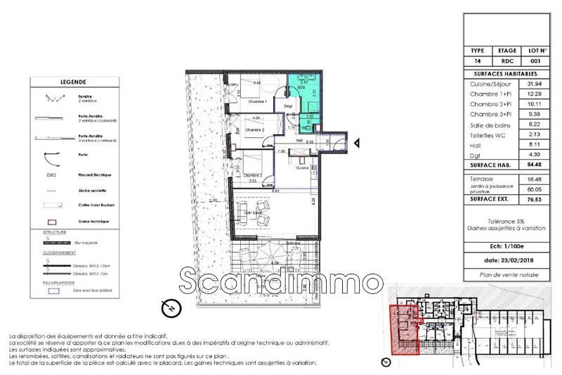 Photo n°3 -  Appartement rez-de-jardin Nice 06000 - 499 000 €