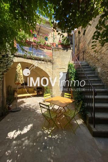 Maison de village Saint-Quentin-la-Poterie Uzès nord,   achat maison de village  3 chambres   90m²