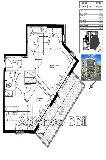 Photo n°7 - Vente appartement Nice 06100 - 351 000 €