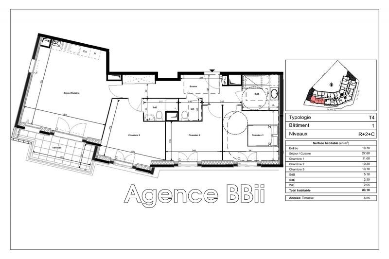 Photo Appartement Le Plessis-Bouchard Centre-ville,   achat appartement  4 pièces   83m²