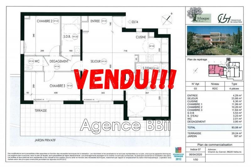 Appartement Vallauris Proche centre ville,   achat appartement  4 pièces   83m²