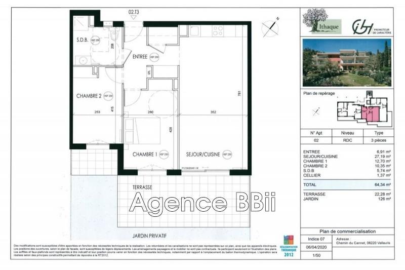 Appartement Vallauris Proche centre ville,   achat appartement  3 pièces   64m²