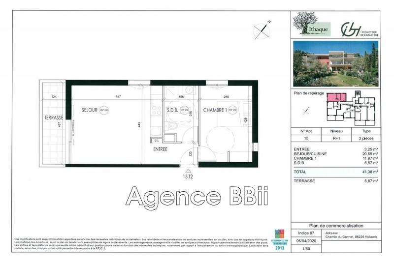 Appartement Vallauris Proche centre ville,   achat appartement  2 pièces   41m²