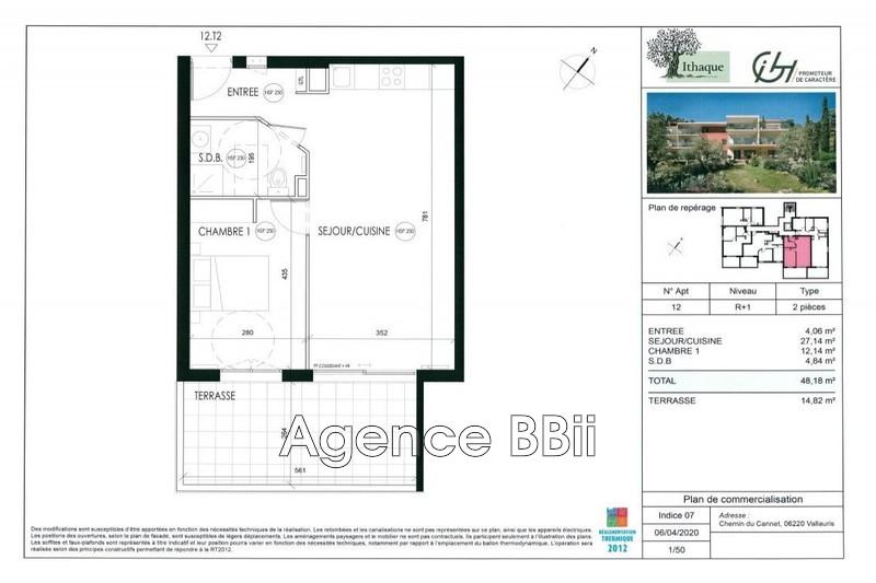 Appartement Vallauris Proche centre ville,   achat appartement  2 pièces   48m²