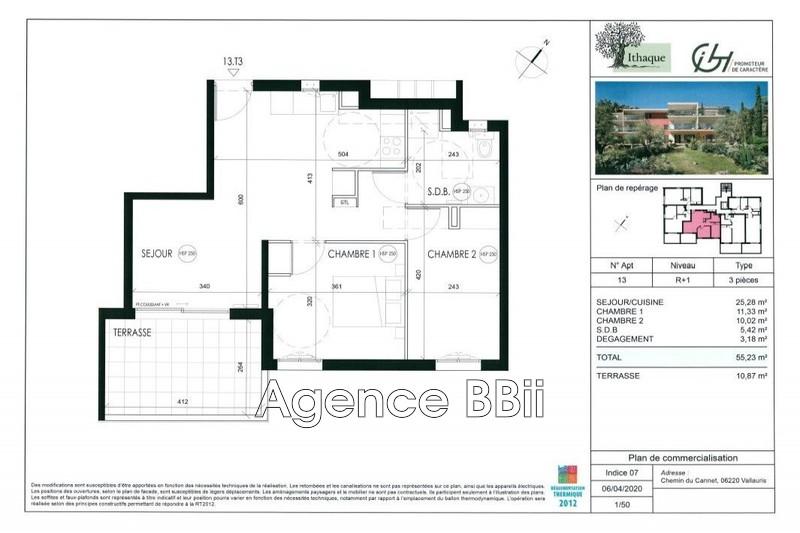 Appartement Vallauris Proche centre ville,   achat appartement  3 pièces   55m²
