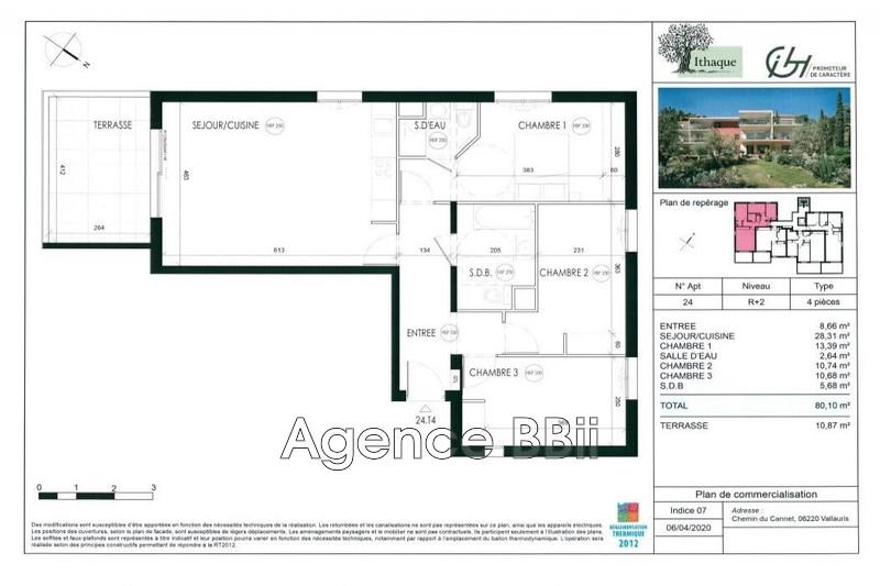 Appartement Vallauris Proche centre ville,   achat appartement  4 pièces   80m²
