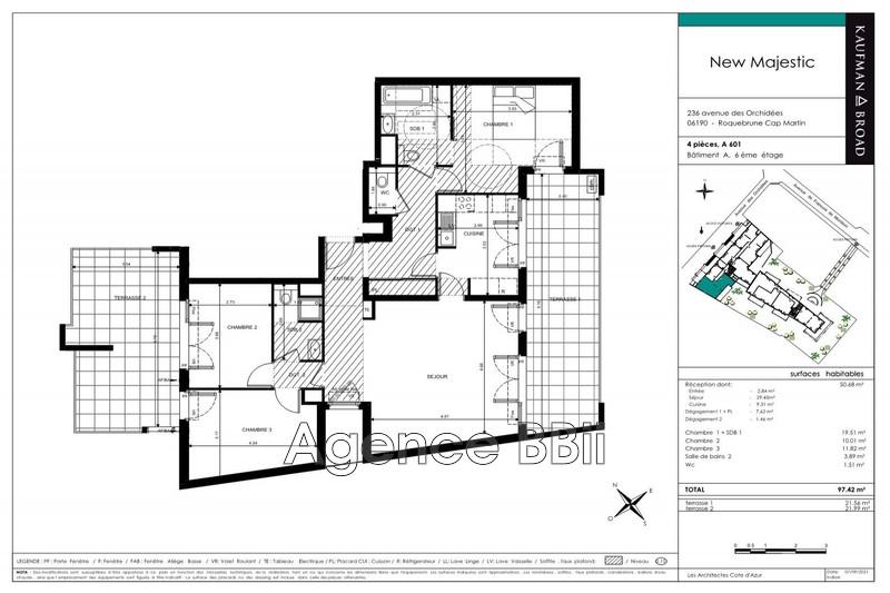 Appartement Roquebrune-Cap-Martin Roquebrune,   achat appartement