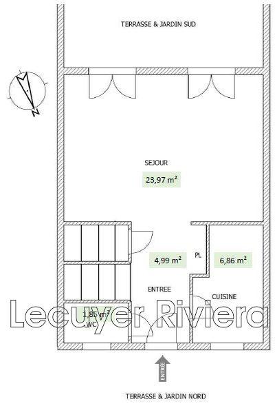 Vente Maison GolfeJuan Twimmocom - Plan maison entree sud