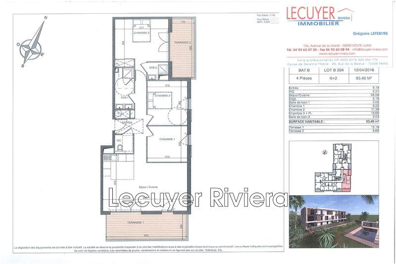 Photo n°2 - Vente appartement Golfe-Juan 06220 - 541 000 €