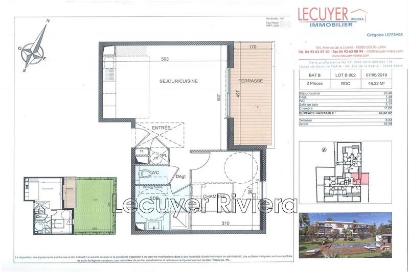 appartement  2 rooms  Golfe-Juan Close ti the beaches  45m² -