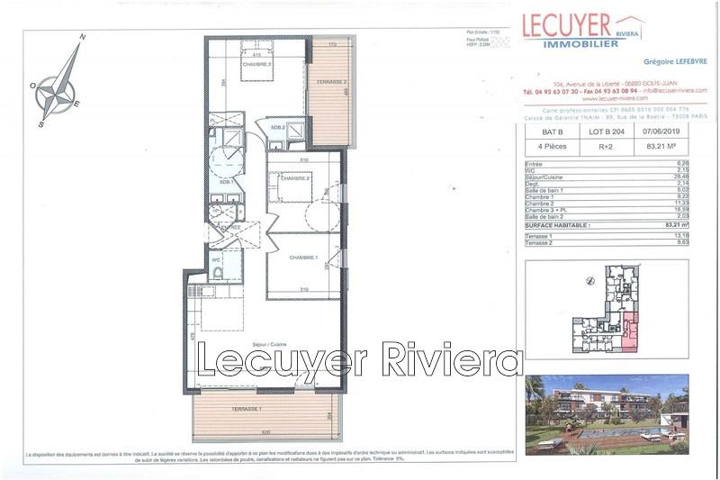 Photo Appartement Golfe-Juan Proche plages,   achat appartement  4 pièces   83m²