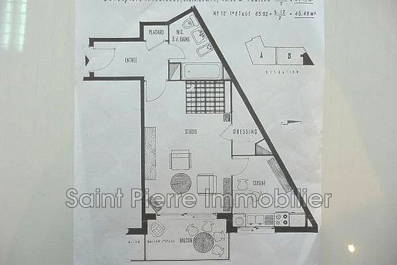 Photo Apartment Cagnes-sur-Mer Hippodrome,   to buy apartment  1 room   39m²