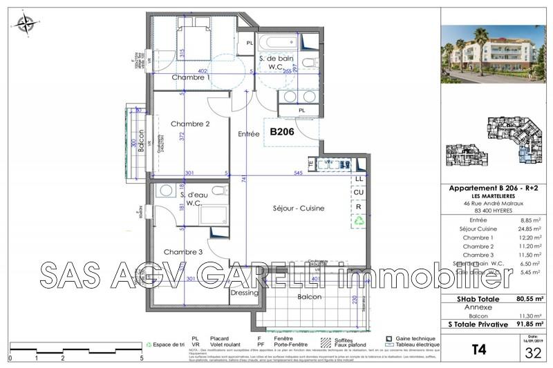 Photo n°2 - Vente appartement Hyères 83400 - 384 000 €