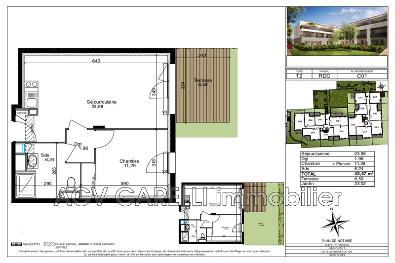 Photo n°1 - Vente appartement Cuers 83390 - 190 000 €