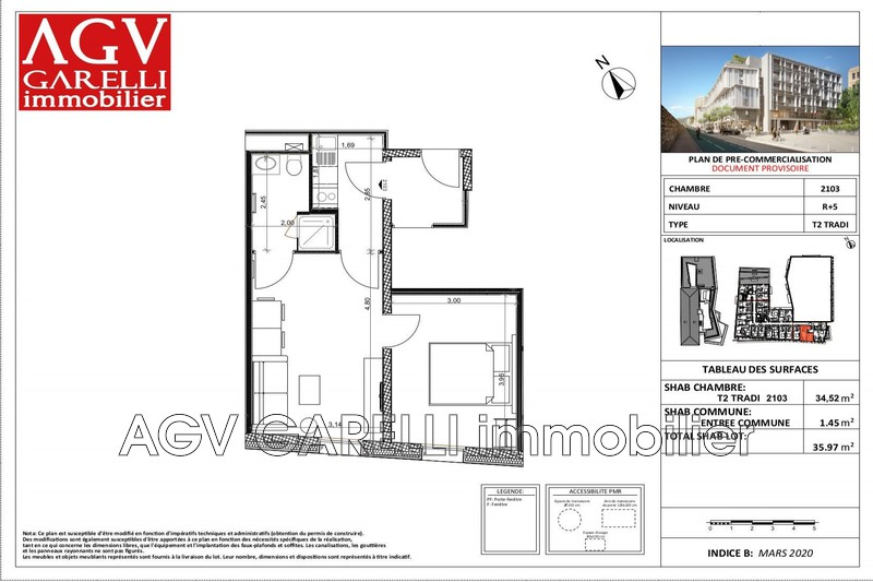 Photo n°2 - Vente Appartement idéal investisseur Toulon 83000 - 239 880 €