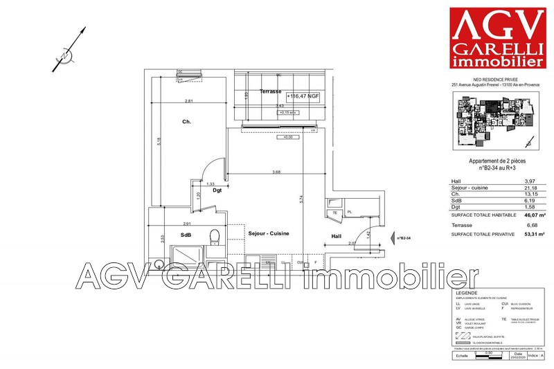 Photo n°1 - Vente appartement Aix-en-Provence 13290 - 245 000 €
