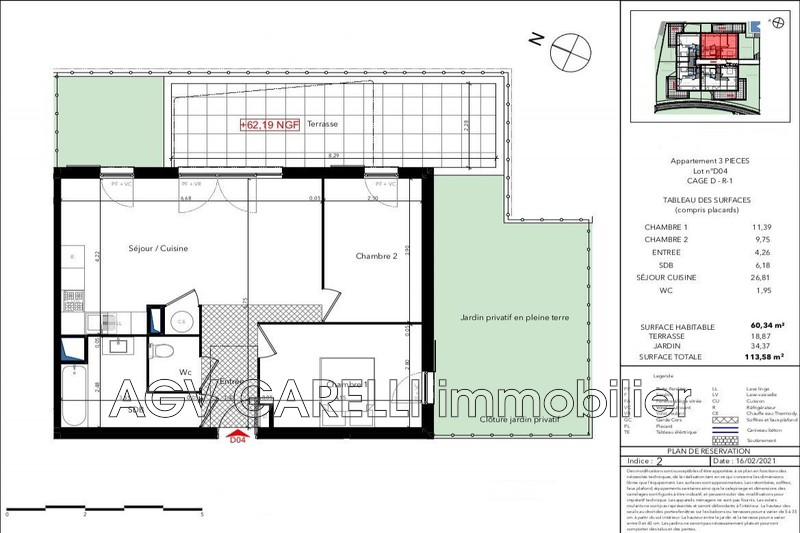 Photo n°2 - Vente appartement Le Lavandou 83980 - 373 700 €