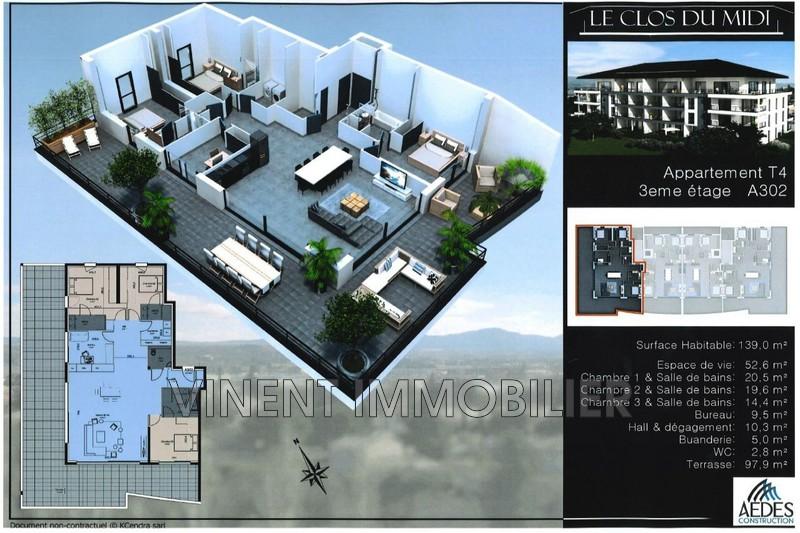 Photo Appartement de prestige Montélimar Sud ville,   achat appartement de prestige  5 pièces   140m²