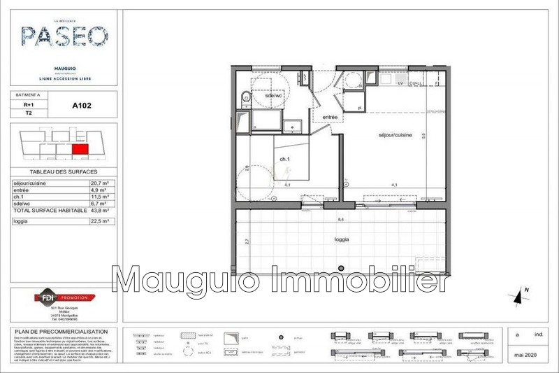Photo Apartment Mauguio   to buy apartment  2 rooms   43 m²