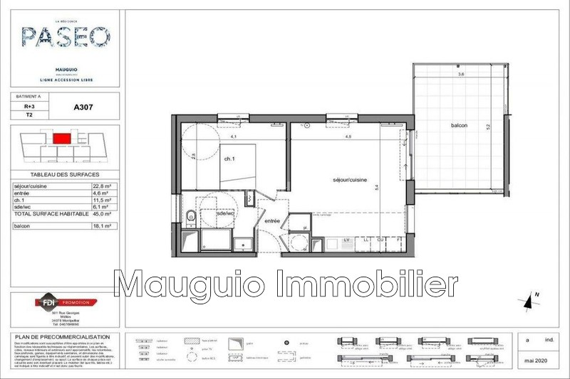 Photo Apartment Mauguio   to buy apartment  2 rooms   45 m²