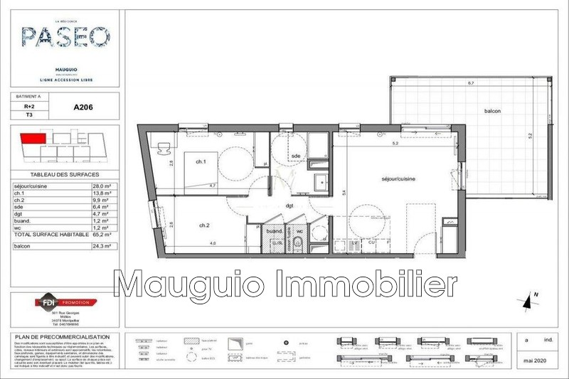 Appartement Mauguio   achat appartement  3 pièces   65m²